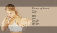 Kickboxing Business Card Template